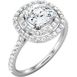 2.16 carat Sparkling cushion  round diamonds weddi